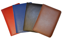 Red, Blue, Black, British Tan Top-Grain Leather Planner Covers